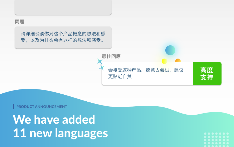 Product Update: Understand Your Participants in 11 More Languages!